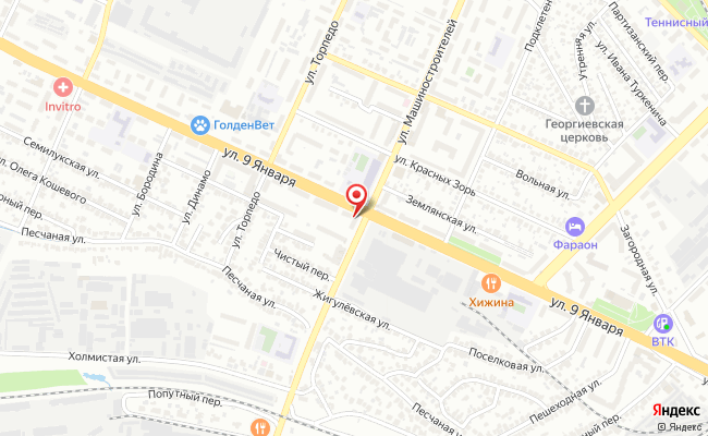 Карта расположения пункта доставки Билайн в городе Воронеж