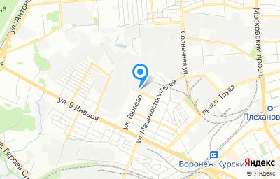 Местоположение на карте пункта техосмотра по адресу г Воронеж, ул Торпедо, д 43