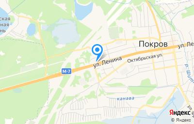Местоположение на карте пункта техосмотра по адресу Владимирская обл, Петушинский р-н, г Покров, ул Ленина, д 204
