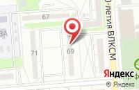 Схема проезда до компании Круг в Воронеже