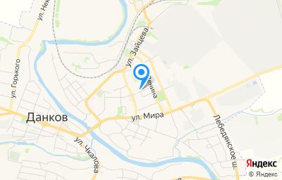 Местоположение на карте пункта техосмотра по адресу Липецкая обл, г Данков, ул Молодежная, д 2