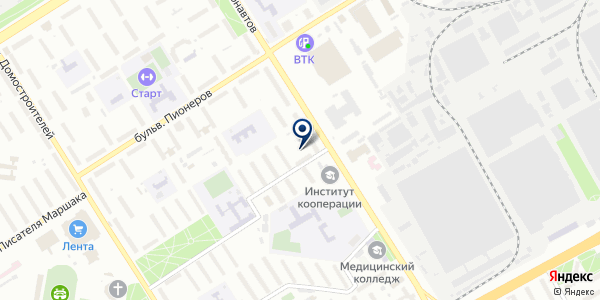 Лидия на карте Воронеже