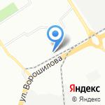 Интерлингва на карте Воронежа