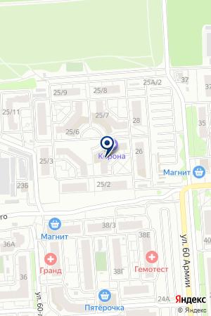 Тензосила на карте Воронежа