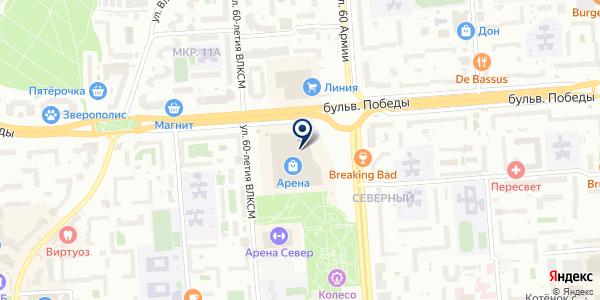 Подиум на карте Воронеже