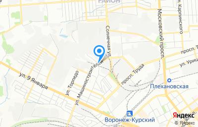 Местоположение на карте пункта техосмотра по адресу г Воронеж, ул Машиностроителей, д 7И