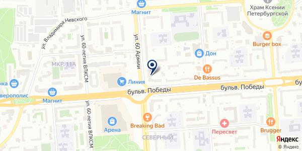 Эль на карте Воронеже