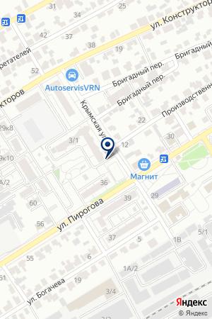 ПРОДОВОЛЬСТВЕННЫЙ МАГАЗИН ВИКТОРИЯ на карте Воронежа