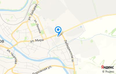 Местоположение на карте пункта техосмотра по адресу Липецкая обл, г Данков, ул Мира, д 75