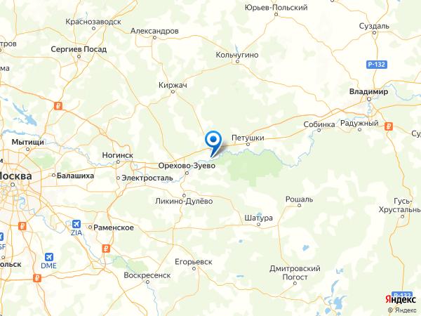 деревня Домашнево на карте