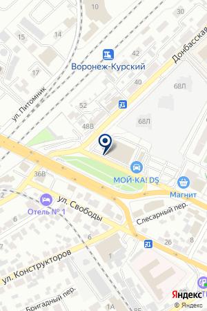 Диалог на карте Воронежа