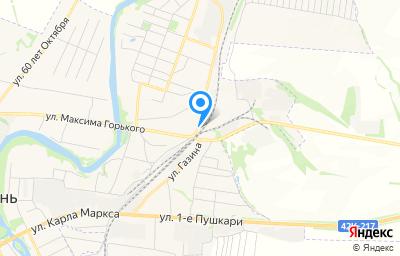 Местоположение на карте пункта техосмотра по адресу Липецкая обл, г Лебедянь, ул Л.Толстого, д 63