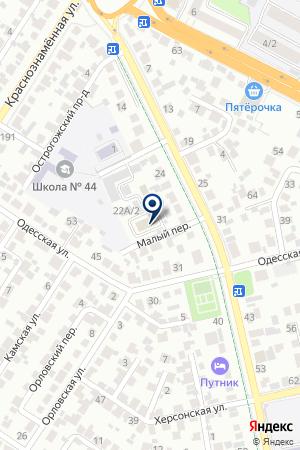 Киндер Лэнд на карте Воронежа