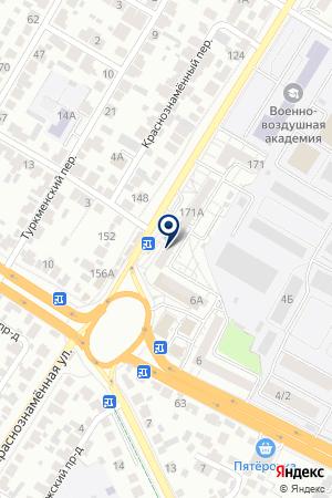 Отделение почтовой связи №52 на карте Воронежа