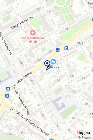 Чекушка на карте Воронежа