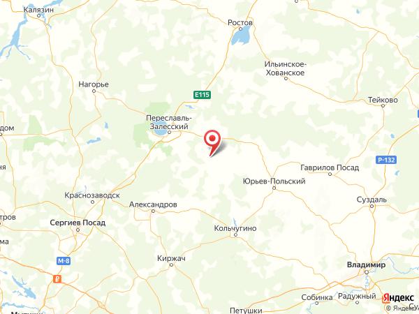 село Смоленское на карте