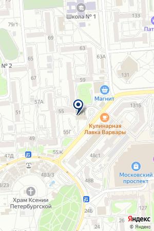 Старт-Воронеж на карте Воронежа