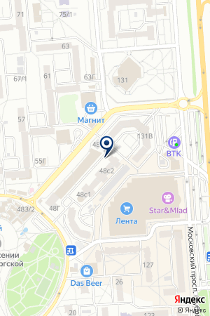 Центр подготовки персонала, ЧОУ на карте Воронежа