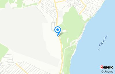 Местоположение на карте пункта техосмотра по адресу г Воронеж, ул Острогожская, д 144Д