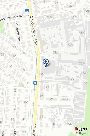 Компания Аргус на карте Воронежа