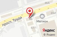 Схема проезда до компании Литера в Воронеже
