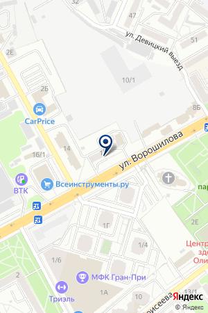 МУП РЕДАКЦИЯ ГАЗЕТЫ БЕРЕГ на карте Воронежа