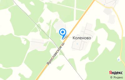 Местоположение на карте пункта техосмотра по адресу Ярославская обл, Ростовский р-н, д Коленово
