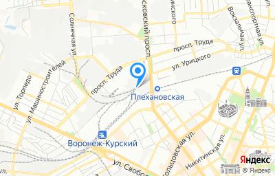 Местоположение на карте пункта техосмотра по адресу г Воронеж, ул Еремеева, д 3
