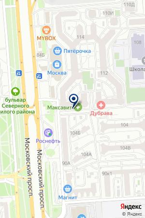 Радуга на карте Воронежа