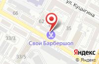 Схема проезда до компании Мёбиус в Воронеже