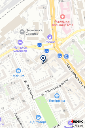 РЕМОНТНАЯ ФИРМА ОРБИТА-СЕРВИС на карте Воронежа