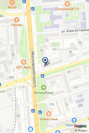 Отделение почтовой связи №26 на карте Воронежа