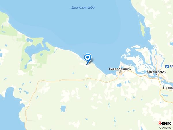 село Нёнокса на карте