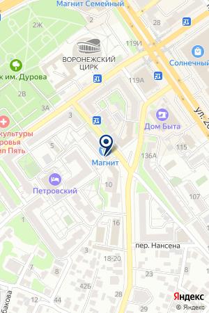 КредитПилот на карте Воронежа