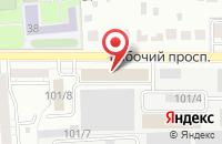 Схема проезда до компании Металлсервис в Воронеже