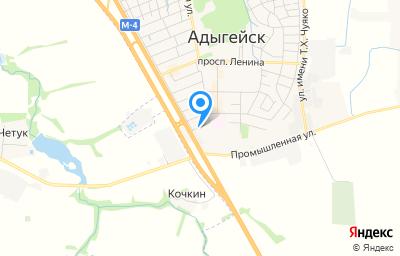 Местоположение на карте пункта техосмотра по адресу Респ Адыгея, г Адыгейск, ул Коммунистическая, д 1А/5И