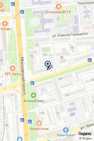 Почтовое отделение №26 на карте Воронежа