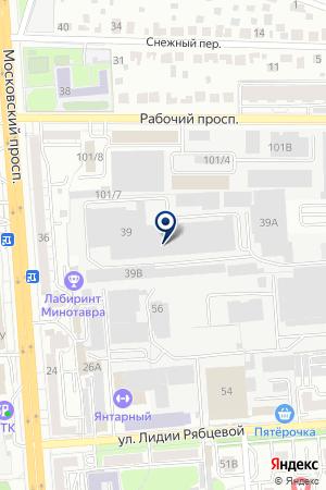 ТФ ВАЛЕТОН на карте Воронежа