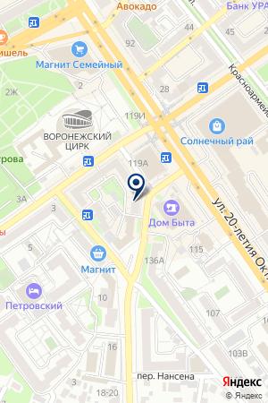 Стоматологическая поликлиника №4 на карте Воронежа