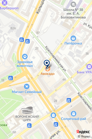 Ivovi на карте Воронежа