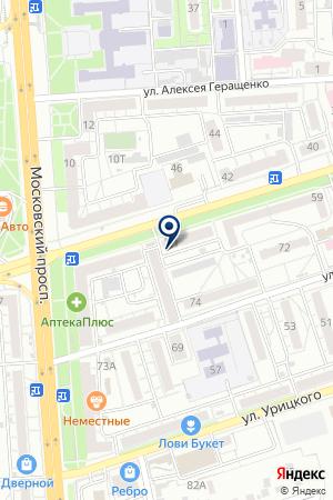 Арбитражный управляющий Сутягина И.В. на карте Воронежа