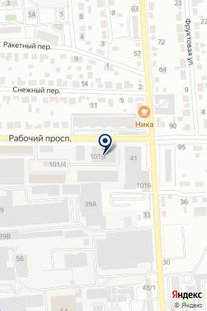 Элтрэк на карте Воронежа