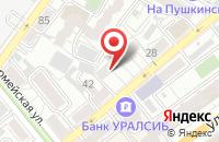 Схема проезда до компании Упак в Воронеже