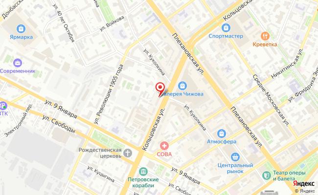 Карта расположения пункта доставки 220 вольт в городе Воронеж
