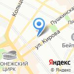 А3+ на карте Воронежа