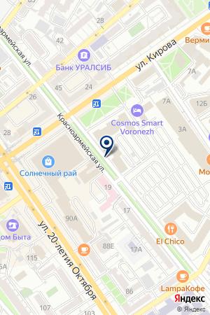 Семья на карте Воронежа