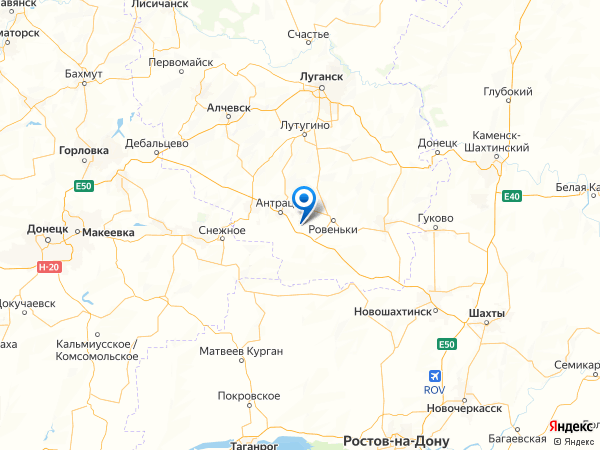 поселок городского типа Горняк на карте