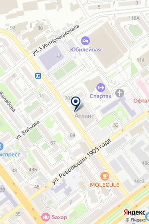 Кирпич Эксперт на карте Воронежа