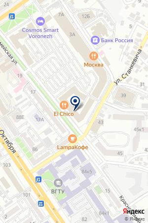 FRESHFOREX на карте Воронежа