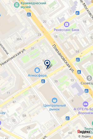 АрмТик на карте Воронежа
